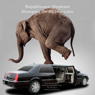 BREAKING NEWS - Republicans' Elephant Stomping On Obama Limo (Volatility Research) 1000w
