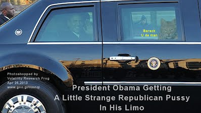 BREAKING NEWS - President Obama Getting A Little Strange Republican Pussy In His Limo (Volatility Research) 1000w