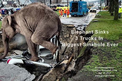 Elephant Sinks 3 Trucks In Biggest Sinkhole Ever (Volatility Research) 1000w