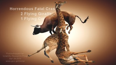 Horrendous Fatal Crash 2 Flying Giraffes 1 Flying Cow (Volatility Research) 1000w