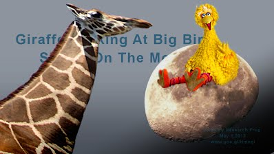 Giraffe Peeking At Big Bird Sitting On The Moon (Volatility Research) 1000w