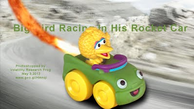 Big Bird Racing In His Rocket Car (Volatility Research) 1000w