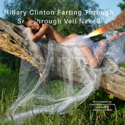 Hillary Clinton Naked Farting Through See Through Veil (Volatility Research) 1000w