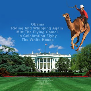 Obama Riding And Whipping Again Mitt The Flying Camel In Celebration Flyby The White House (Volatility Research) 1000w2