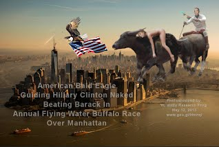 Hillary Clinton Naked Beating Barack In Annual Flying Water Buffalo Race American Bald Eagle Guiding (Volatility Research) 1000w