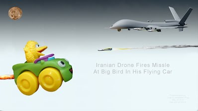 Iranian Drone Fires Missle At Big Bird In His Flying Car (Volatility Research) 1000h