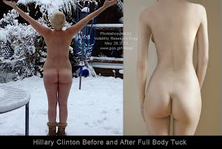 Hillary Clinton BUTT Before and After Full Body Tuck  (Volatility Research) 1000h