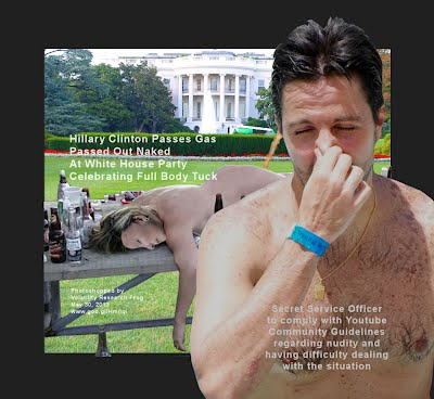 Hillary Clinton Passes Gas Passed Out Naked At White House Party Celebrating Full Body Tuck (Volatility Research) 1250w5 secret servie