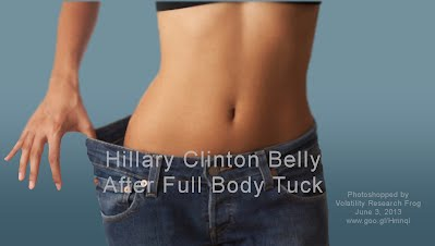 Hillary Clinton Belly After Full Body Tuck (Volatility Research) 1000h