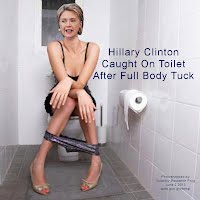 Hillary Clinton Caught On Toilet After Full Body Tuck (Volatility Research) 1000x1000