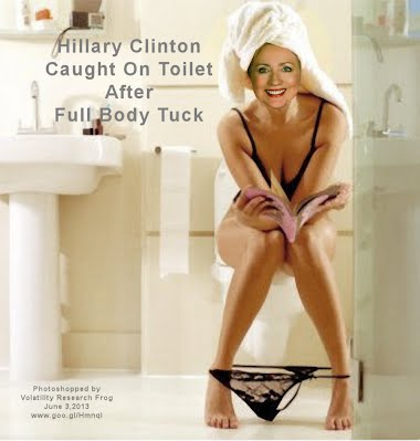 Hillary Clinton Caught On Toilet After Full Body Tuck (Volatility Research) 1000h2 #2 of 2