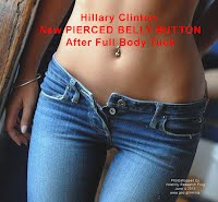 Hillary Clinton New PIERCED BELLY BUTTON After Full Body Tuck (Volatility Research) 1000h