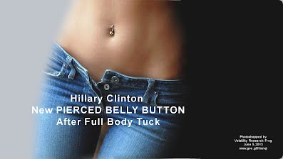 Hillary Clinton New PIERCED BELLY BUTTON After Full Body Tuck (Volatility Research) 1000h3