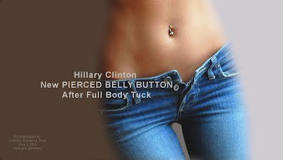 Hillary Clinton New PIERCED BELLY BUTTON After Full Body Tuck (Volatility Research) 1000h4