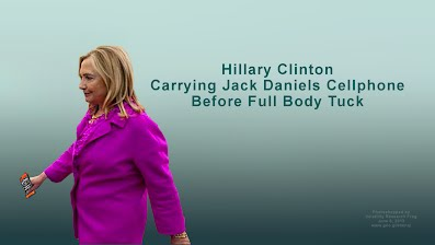 Hillary Clinton Carrying Jack Daniels Cellphone Before Full Body Tuck (Volatility Research) 1000h