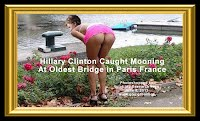 Hillary Clinton Caught Mooning At Oldest Bridge in Paris France (Volatility Research) 1000h5