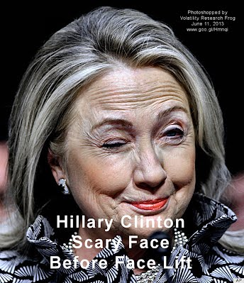 Hillary Clinton Scary Face Before Face Lift (Volatility Research) 1000h