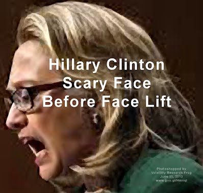Hillary Clinton Scary Face Before Face Lift (Volatility Research) 1000h6