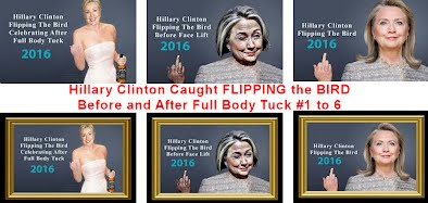 Hillary Clinton Caught FLIPPING the BIRD Before and After Full Body Tuck (Volatility Research) 1004w1 to 6