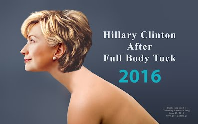 Hillary Clinton Naked After Full Body Tuck (Volatility Research) 1000h10