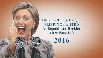 Hillary Clinton Caught FLIPPING the BIRD At Republican Heckler After Face Lift (Volatility Research) 1000h13