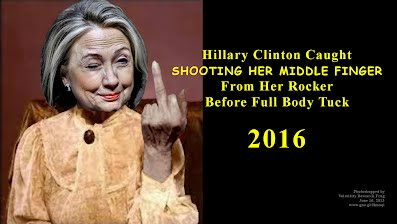 Hillary Clinton Caught SHOOTING HER MIDDLE FINGER From Her Rocker Before Full Body Tuck (Volatility Research) 1000h23