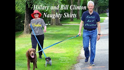 Hillary and Bill Clinton Wearing Naughty Shirts I SWALLOW and EATIN AINT CHEATIN (Volatility Research) 1000h30