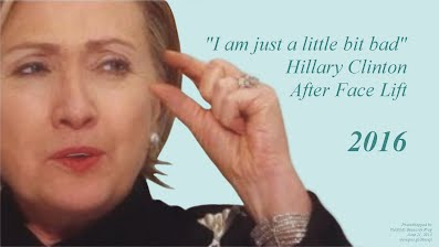 I am just a little bit BAD Says Hillary Clinton After Face Lift (Volatility Research) 1000h58