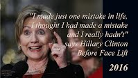 I made just one mistake in life says Hillary Clinton Before Face Lift (Volatility Research) 1000h61