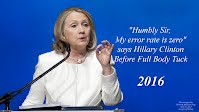 Humbly Sir My error rate is zero says Hillary Clinton Before Full Body Tuck (Volatility Research) 1000h63