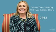 Hillary Clinton On Weight Watchers Throne (Volatility Research) 1000h