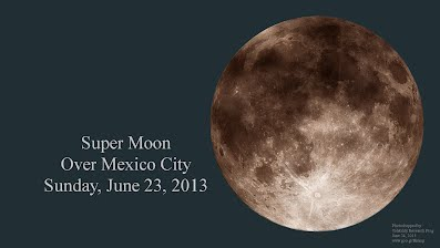 Super Moon over Mexico City Sunday June 23 2013 1000h
