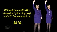 Hillary Clinton BEFORE and AFTER Full Body Tuck (Volatility Research)  1000h80