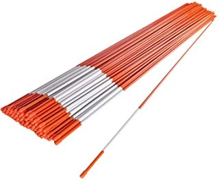 "Driveway Markers Snow Plow Stakes 4 foot 5//16/"" Package of 50"