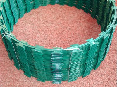 PVC razor wire coil, Razor Ribbon, Security fence, Alambre Concertina, El Alambre Navaja - WM WIRE INDUSTRIAL