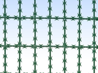 Plastic_Coated_Straight_Razor_Wire_Fence, Concertina, Security fencing, Redes Laminadas, Concertina para muros, Razor Ribbon, Alambre de Navajas - WM WIRE INDUSTRIAL