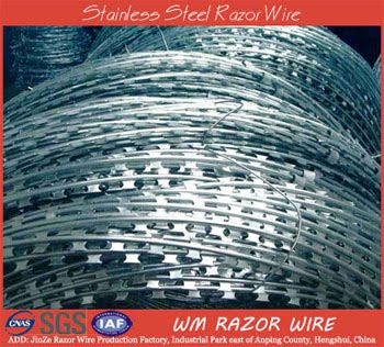 Stainless steel razor wire benefits for security in Residential