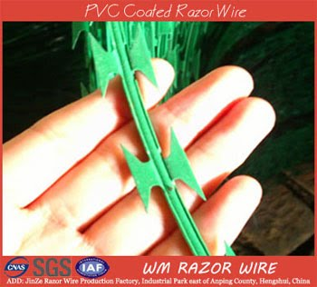 PVC Coated Razor Wire Catalog Use In Highway And Garden