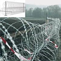 Concertina Razor Barbed Wire Fence For Border Security