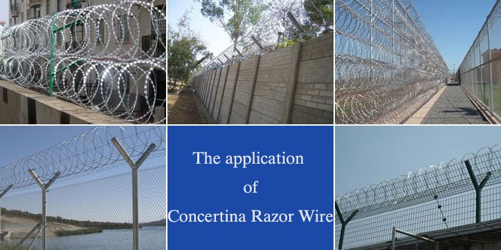 concertina razor wire application, Razor Ribbon, Security fence, Alambre Concertina, El Alambre Navaja - WM WIRE INDUSTRIAL