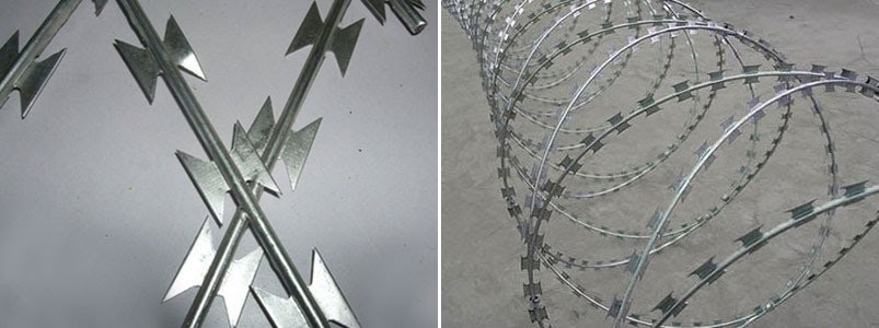 Stainless Steel Razor Wire spiral razor barbed wire coils