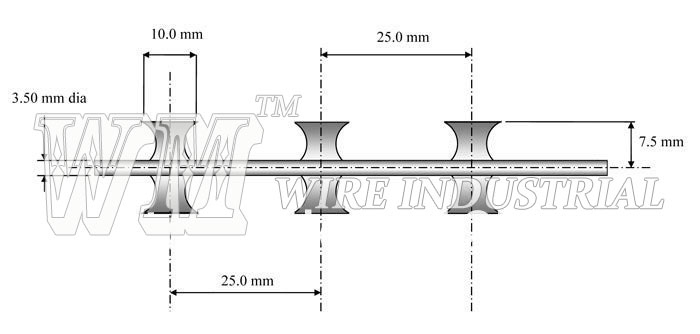 Concertina razor wire single coil blade 10